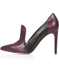 Topshop Womens Greta Loafer Court Shoes Burgundy - Lyst