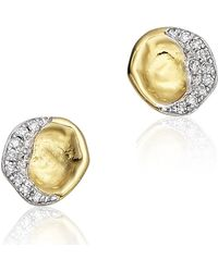 Monica Vinader Riva Diamond Earrings - Lyst