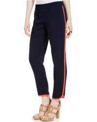 Tommy Hilfiger Drapey Pipe-Trim Athletic Pants - Lyst