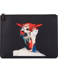 Givenchy Bull-Sculpture Collage Zip Pouch - Lyst