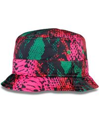 House of Holland Pink Snake Bucket Hat - Lyst