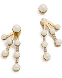 Kate Spade - Purely Pearly Ear Jackets - Lyst