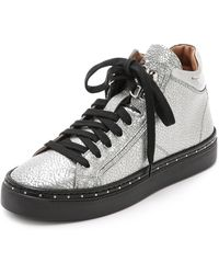 MCM - Mid Top Trainers - Silver - Lyst
