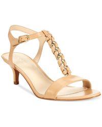 Nine West Yocelin Low Heel Dress Sandals - Lyst