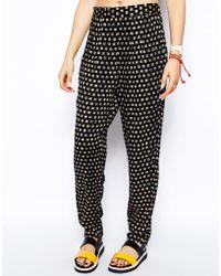 MINKPINK   Leopard Grid Beach Trousers   Lyst