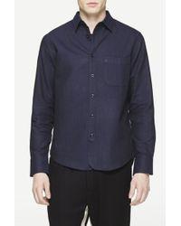Rag & Bone | blue Three Quarter Placket Shirt | Lyst