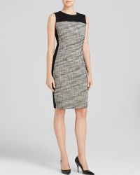 T Tahari Dakota Tweed Dress - Lyst