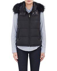Lucien Pellat Finet - Fur-trimmed Hooded Puffer Vest - Lyst