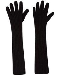 Acne Studios - Long Black Dahlia Wool-Blend Gloves - Lyst