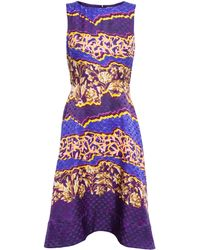 Peter Pilotto Abstract Floral Silk Dress - Lyst