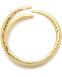 Jacquie Aiche Ja Mini 3 Claw Ring - Goldclear - Lyst