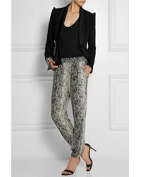 Alice By Temperley - Alice Satin-trimmed Stretch-twill Jacket - Lyst
