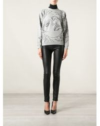 Jean Paul Gaultier - Embroidered Face Sweatshirt - Lyst