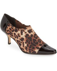 Donald J Pliner Levy Patent Leather-Trimmed Leopard Print Booties animal - Lyst