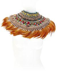 Anita Quansah London Ara Necklace orange - Lyst