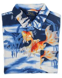 Ralph Lauren Blue Label Polo Shirt With Fish Printed multicolor - Lyst