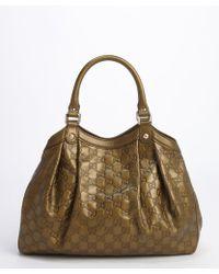 Gucci Olive Ssima Leather Sukey Shoulder Bag - Lyst