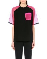 Christopher Kane Mesh-Panel Cotton Top - For Women - Lyst