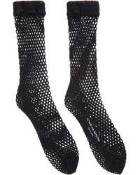 Comme des Garçons Black Mesh Torchon Lace Socks