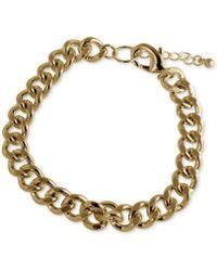 Marc Ecko - Goldtone Link Bracelet - Lyst