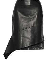 Reed Krakoff Asymmetric Leather Skirt - Lyst