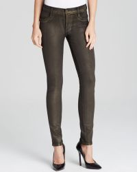 James Jeans Twiggy Legging in Vintage Gold Glossed - Lyst