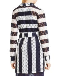 BCBGeneration - Striped Trench Coat - Lyst