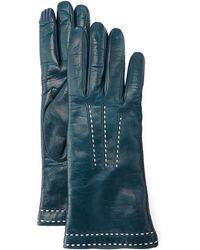 Portolano | Stitch-detail Leather Gloves | Lyst