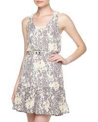 Joie Ori D Leopardprint Flounce Dress - Lyst