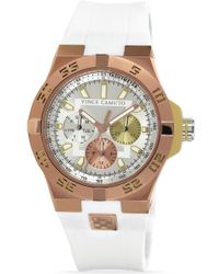 Vince Camuto - White Silicone Strap Chronograph Watch 43mm - Lyst