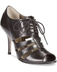 Tahari Black Lido Shooties - Lyst