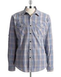 DKNY Checkered Sports Shirt - Lyst