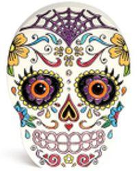 Charlotte Olympia 'Calavera' Skull Crystal Perspex Clutch - Lyst