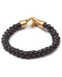 Lulu Frost G Frost Zipper Harpoon Bracelet - Blk - Lyst