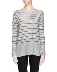 Vince Stripe Wool-Cashmere Sweater - Lyst