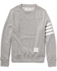 Thom Browne Loopback Cotton-Jersey Sweatshirt - Lyst