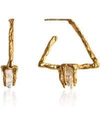 Niza Huang Gold Delta Earrings gold - Lyst