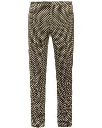 Jonathan Saunders Francis Chequered Silk-blend Trousers - Lyst