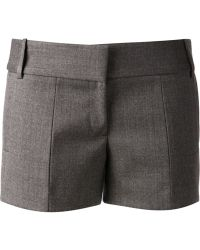 Viktor & Rolf Flannel Mini Shorts - Lyst