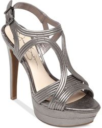 Jessica Simpson Salemm Ankle Strap Platform Dress Sandals - Lyst