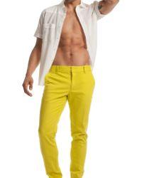 Mr Turk Nate Slim Trouser - Yellow
