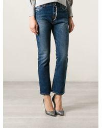 Erika Cavallini Semi Couture Cropped Flared Jeans - Lyst