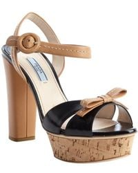 Prada Beige Womens Shoes - Lyst