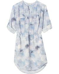 Rebecca Taylor Floral Haze Shirtdress - Lyst
