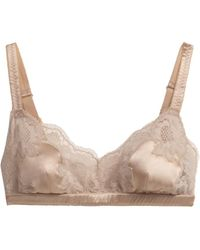 Dolce & Gabbana Lace and Satin Softcup Bra - Lyst