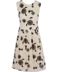 Lela Rose Embroidered Organza Dress - Lyst
