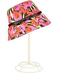 Kate Spade Tropical Floral Bucket Hat - Lyst