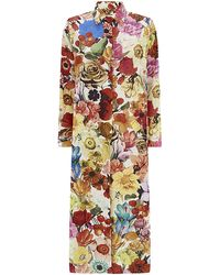 Paul Smith Floral Print Shirt Dress - Lyst