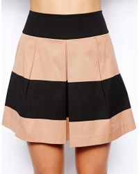 Oasis Stripe Skater Skirt - Lyst