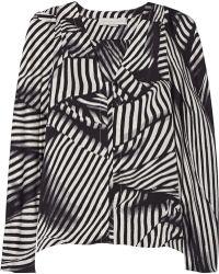 Stella McCartney Priska Striped Silk Top - Lyst